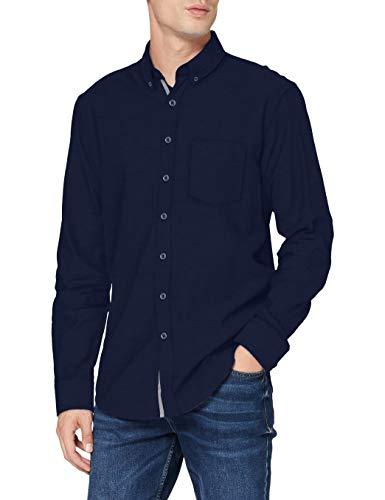 BRAX Herren Style Dries Hemd mit Button-Down-Kragen, Navy, M