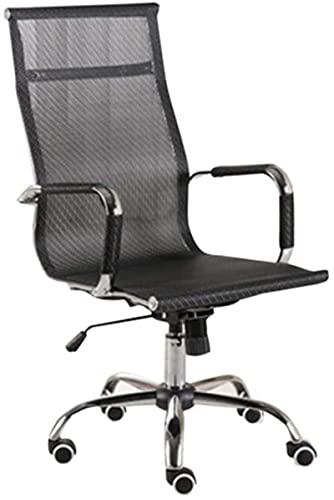 Bar pall Bekväm gäststol-kontor Swivel stol, konferensstol konferensstol hem stol Hotel stol mottagning stol Dator stol multifunktionella stol kontorsmaterial (färg: svart) (Color : Black)