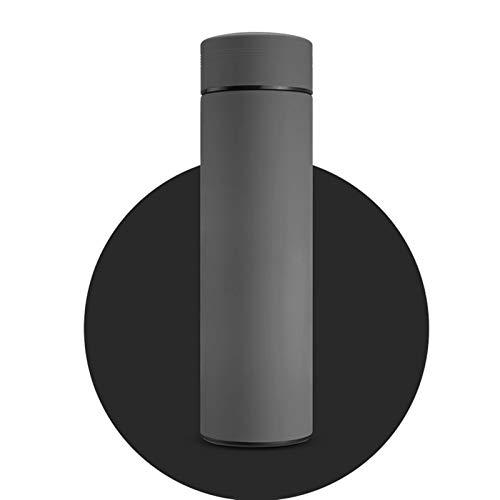LCYYDECO HDHWZ Frasco de vacío con Filtro Thermos Botella Acero Inoxidable 304 Taza térmica Taza Taza de café Botella de Agua Oficina Hogar Thermo (Capacity : 500ml, Color : Gray)