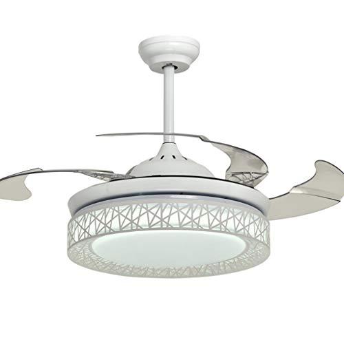 P/âles Blanc Ventilateur de plafond R/éversible Melton Blanc 132 cm avec Eclairage et T/él/écommande