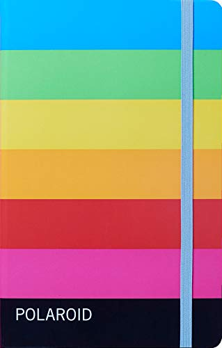 Polaroid Notebook: (Blank Journal Featuring Vintage Instant Camera Packaging Artwork, Sketchbook with Rainbow-Striped Cover Design)