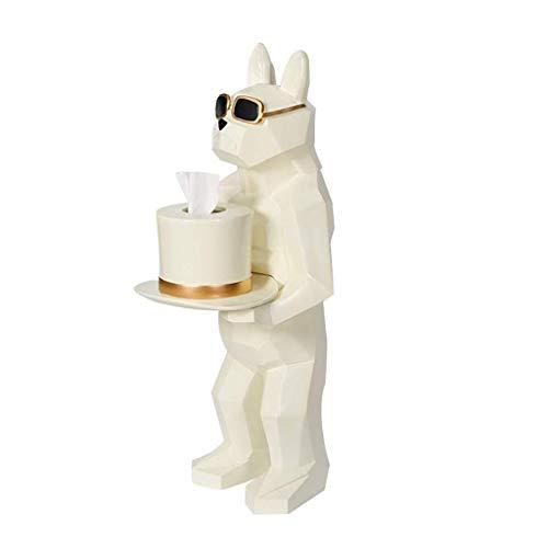 TJLMZ Sostenedor de Papel higiénico, habitación de los niños con Independiente Papel higiénico Titular diseño del Perro Creativo del Papel higiénico del Titular (Color : White)
