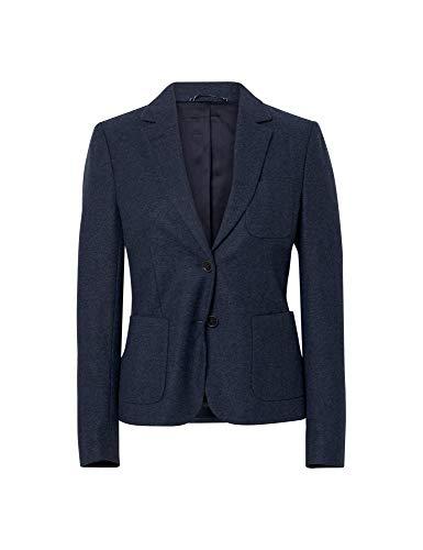 GANT Jacke klassischer Damen Kurz-Blazer mit Ellenbogenpatches Jackett Sakko Marine, Größe:38