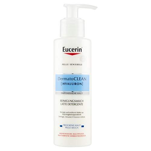 Eucerin DermatoClean Hyaluron Empfindliche Haut Reinigungsmilch, 200 ml Lotion