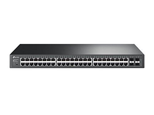 TP-Link Jetstream 48 Port Gigabit Managed Switch | Smart Managed | 48 Gigabit Port + 4 SFP | L2/L3/L4 Qos | 4K Vlan (T1600G-52TS)