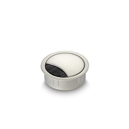 Eisnhauer® Kabeldose Edelstahl finish 60 mm Bohrdurchmesser mit Bürstendichtung, abnehmbarem Deckel in vier Positionen arretierbar, Höhe ca. 21 mm, für die Kabeldurchführung mehrerer Kabel geeignet