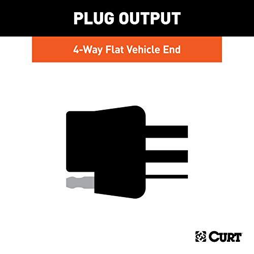 CURT 56407 Vehicle-Side Custom 4-Pin Trailer Wiring Harness, Select Jeep Wrangler JL, Gladiator