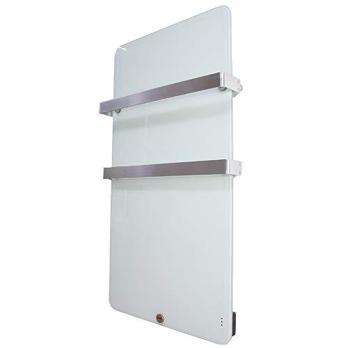 MICRO ENERGY SOLUTIONS Handtuch Heizkörper Bad Handtuchwärmer Elektrisch 480 x 840 mm Handtuchtrockner Badheizkörper 400W,Handtuchhalter-Funktion Weiß