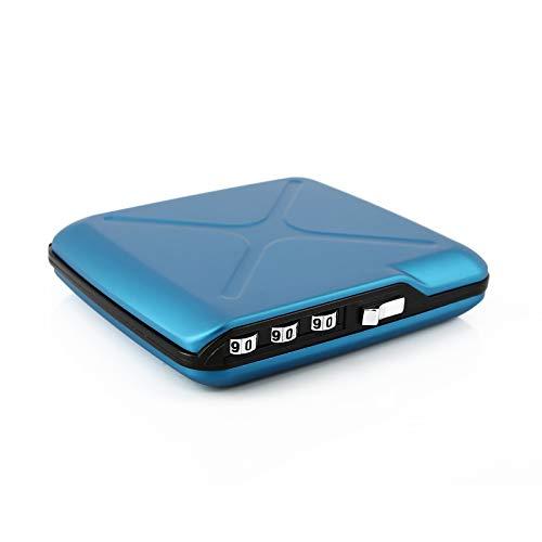 Ögon Smart Wallets - Code Wallet - Cartera de Aluminio con Cierre a codigo - Tarjetero RFID antirrobo - Capacidad 10 Tarjetas y Billetes - Azul