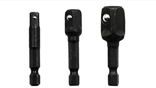 JAP768 8 Piezas Socket Adapte bits Set Hex TRAZAN TUERZA DRIZADOR Power Shank 1/4'3/8' 1/2'Conexión de la Cabeza de la Cabeza de la Cabeza Herramientas de Brocas (Color : 8PCS Black)