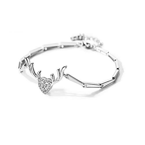 Armband ein Hirsch hat Ihr Armband weiblichen Sterling Silber einfache Persönlichkeit Student Nische Design mit Swarovski Zirkonium