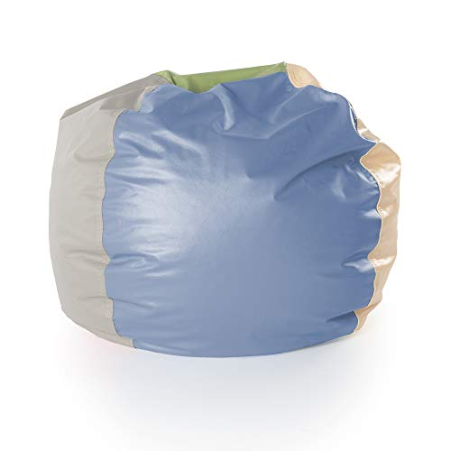 "Guidecraft Natural Rainbow Bean Bag Chair for Kids - Soft Beanbag 30"""