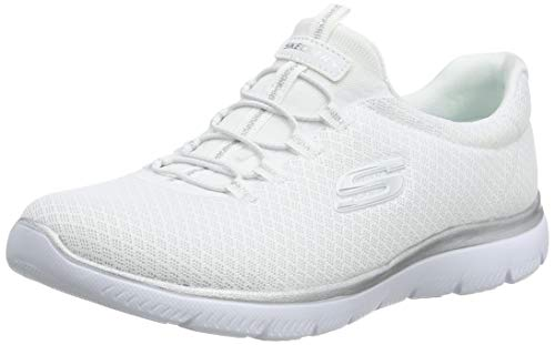 Solid White Ladies Shoe - 6