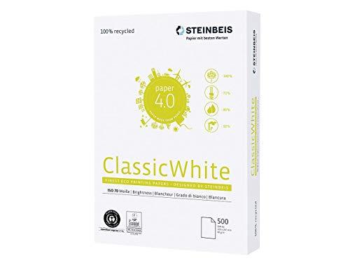 Steinbeis Classic White Recycelt A3 Papier 500 Blatt 80 g/m² hergestellt aus 100% Altpapier
