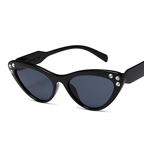 Gafas de Sol Sunglasses Nuevo Vintage Pequeo Ojo De Gato Gafas De Sol Mujer Diseador Retro Boutique Gafas Uv400 C1