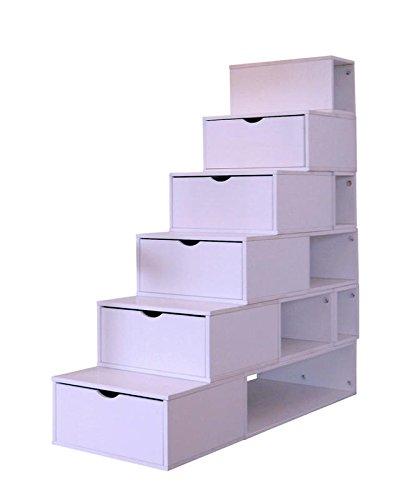 Escalera Cubo de almacenamiento altura: 150 cm, diseño de madera, color pastel: Amazon.es: Hogar