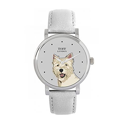 Toff London Reloj para Perros con Cabeza de West Highland Terrier