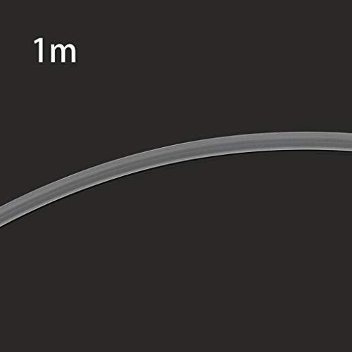 Liancany 1M Teflonschlauch 3D-Druckerzubehör PTFE-Schlauch PiPe Remote Nozzle Feeding Tube 2mmX4mm Hochtemperaturbeständigkeit