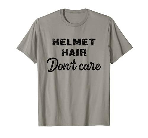 Helmet Hair Don't Care Girls Skateboarding Skater Gifts Kids Camiseta