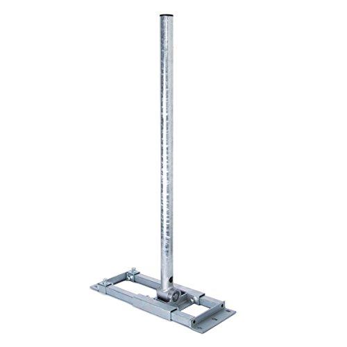 PremiumX Deluxe X130-48 Dachsparrenhalter 130 cm Mast 48 mm SAT-Antenne Sparren-Halter Dach-Halterung für Satelliten-Schüssel feuerverzinkt mit Kabeldurchführung