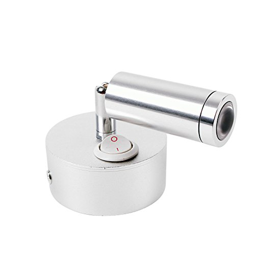 ProPlus Éclairage intérieur LED orientable 12 V 120 lm Ø 65 x 65 à 130 mm Interrupteur marche/arrêt