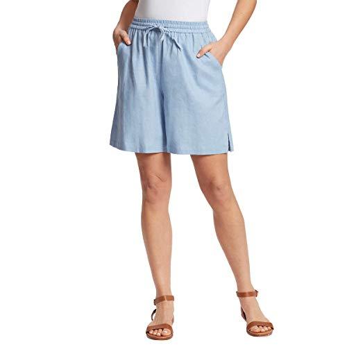 Gloria Vanderbilt Ladies' Linen Blend Short - Blue Medium