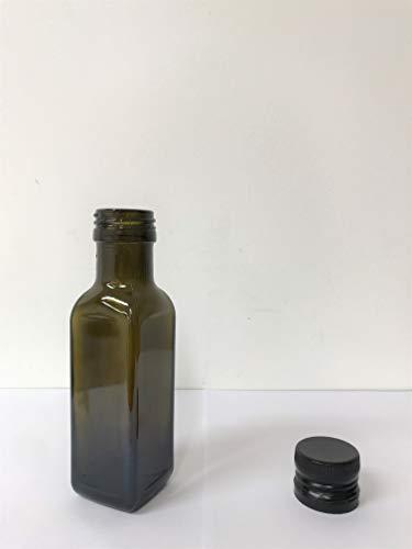 10pz Bottiglia Vetro Scuro UVAG Marasca Olio Liquore 100 ml con Tappo Salvagoccia
