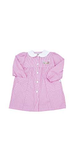 PRIMO DELLA CLASSE Grembiule asilo quadri rosa per bambina scuola materna vari modelli (QUADRI ROSA 9P304, 55-4 ANNI)