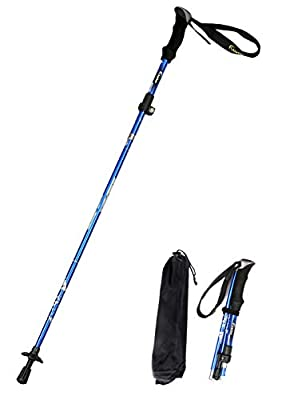 A ALAFEN Aluminum Collapsible Ultralight Travel Trekking Hiking Pole for Men and Women