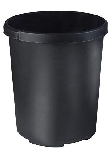 HAN 1836-13, Großpapierkorb KLASSIK XXL, Stabil, Formschön und in Premium Qualität, 50 Liter, schwarz