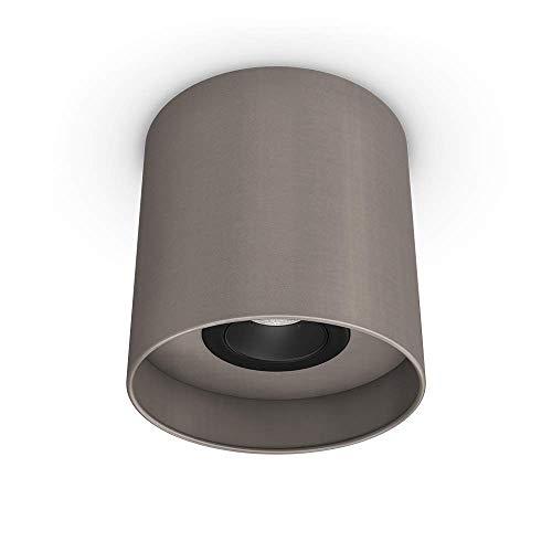 Downlight Uni Granilux (Taupe) | Lámpara de techo | Lámpara de techo | Pantalla de tela I GU10 | 1 foco, orientable 30 ° | Diámetro 18 cm I sin bombilla