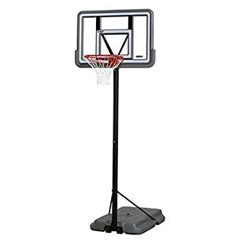 Lifetime 90690 Portable Basketball System  Gray  44  Polycarbonate Backboard