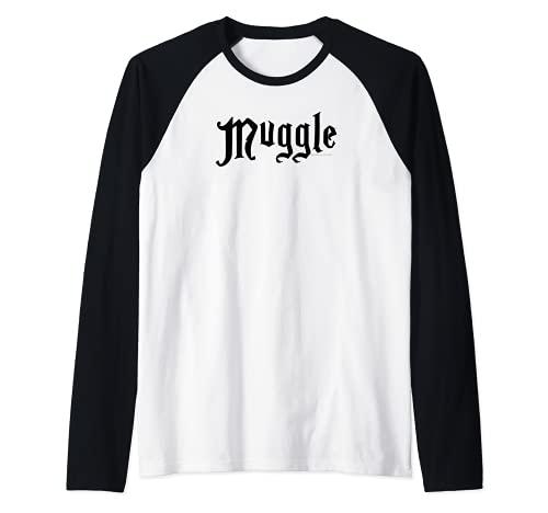 Harry Potter Muggle White Maglia con Maniche Raglan