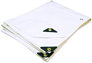 24'X36' EXTRA Heavy Duty 12 mil (White) Tarp 3 Ply Coated Reinforced Canopy 6 oz 3 Layer (Includes Tarps Tools and Toys Maintenance Manual)
