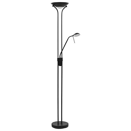 vidaXL LED Stehleuchte Dimmbare Stehlampe Deckenfluter Standlampe Standleuchte Bodenlampe Leselampe Wohnzimmer Lampe Leuchte 23W 180cm