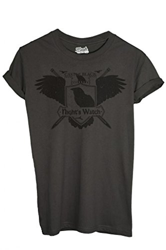 MUSH T-Shirt Castle Rock Night's Watch Game of Thrones - Film by Dress Your Style - Homme-M Anthracite