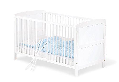 Pinolino - 111422 - Kinderbett Viktoria (140 x 70 cm) - mit 3 Schlupfsprossen, Buche, teilmassiv, weiß