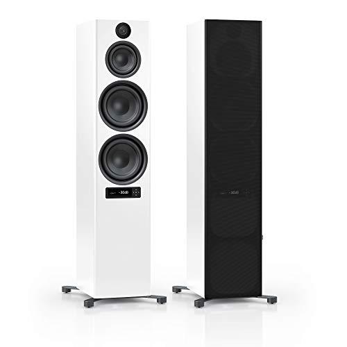 Nubert nuPro X-8000 RC Standlautsprecherpaar | Bluetooth Lautsprecher aptX HD | Lautsprecher Verbindung kabellos High Res 192 kHz/24 bit | Standboxen 3.5 Wege | High End Lautsprecher Weiß | 2 Stück