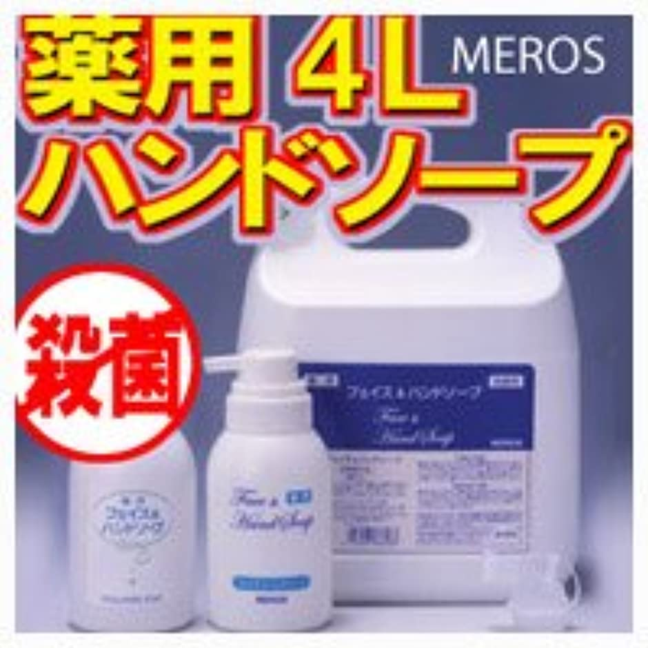 刺繍エンコミウム変動するメロス 薬用ハンドソープ 4L 【泡ポンプボトル付き】