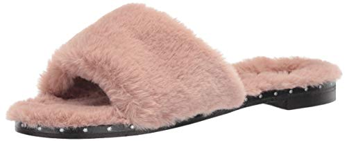 Kenneth Cole New York Womens Peggy Fuzzy Slipper Sandal, Rose, 9.5 M US