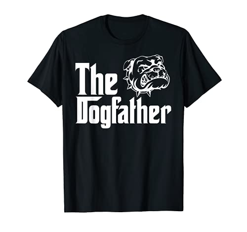 Bulldog Owner Tshirt with Saying The Dogfather T-Shirt