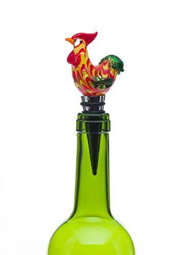 Flaschenverschluss Glasverschluss Glaskorken Huhn Murano Stil Bottle Stopper