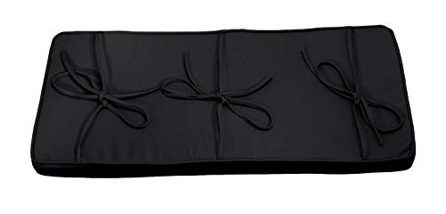 Black Piano Bench Cushion 14' x 30' - Extra Thick Bench Pad
