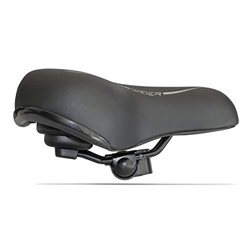 Unisex-Fahrradsattel für Damen und Herren, City Bike EVO, Anatomic, sehr Bequeme Polsterung, mit integrierter Klemme (Schwarz/Grau) - 2
