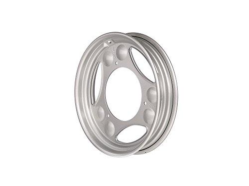 """MZA Scheibenrad 2,1 x 12"""""""" Silber pulverbeschichtet - Simson SR50, SR80, SD 25/50, SRA 25/50"""