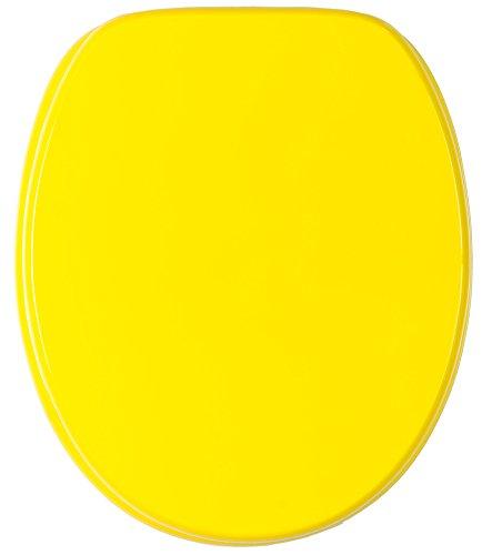 WC Sitz mit Absenkautomatik, viele schöne WC Sitze zur Auswahl, hochwertige und stabile Qualität aus Holz (Gelb)