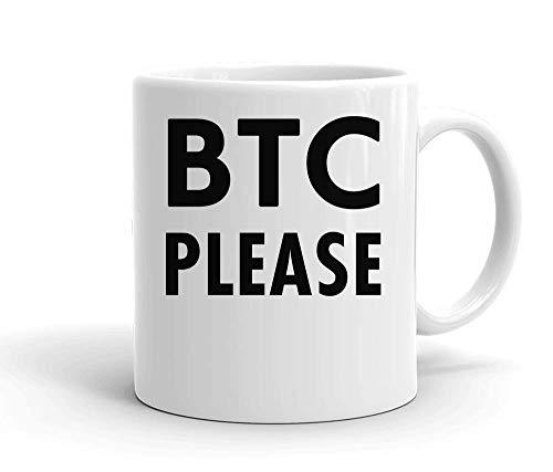 IDcommerce BTC Please Tasse en Céramique Blanche pour Le Thé Et Le Café