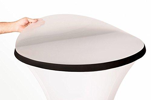 TexDeko Schutzplatte für Stehtische, Stehtischhussen, Abdeckplatte aus Kunstoff (Ø 68 cm)