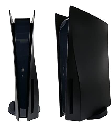 Q-View Schwarz PlayStation 5 Faceplate - Qualitätsersatz Mattschwarz Faceplate - PS5-Zubehör