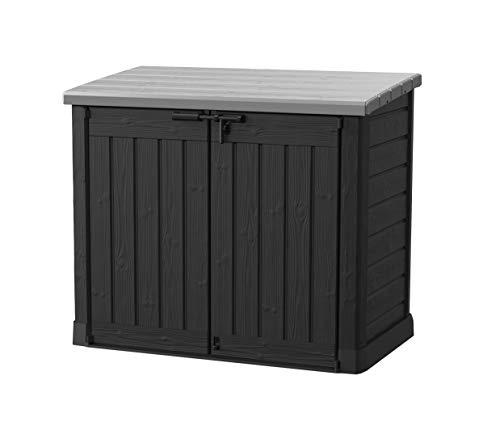 Koll Living Gartenbox Mülltonnenbox Gerätebox Schuppen für 2X 240 Liter Mülltonnen - 100% schimmelfrei durch Belüftung - Modell 2021